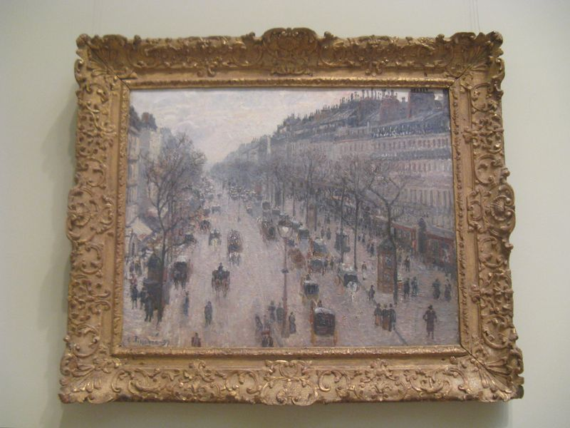 Camille Pissarro The Boulevard Montmarte on a Winter Morning