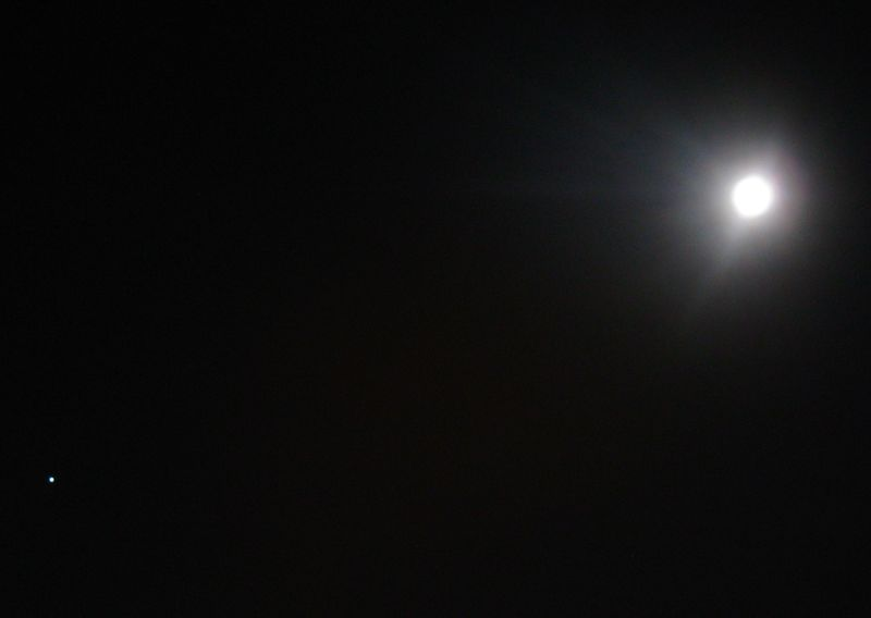 Jupiter with the Moon