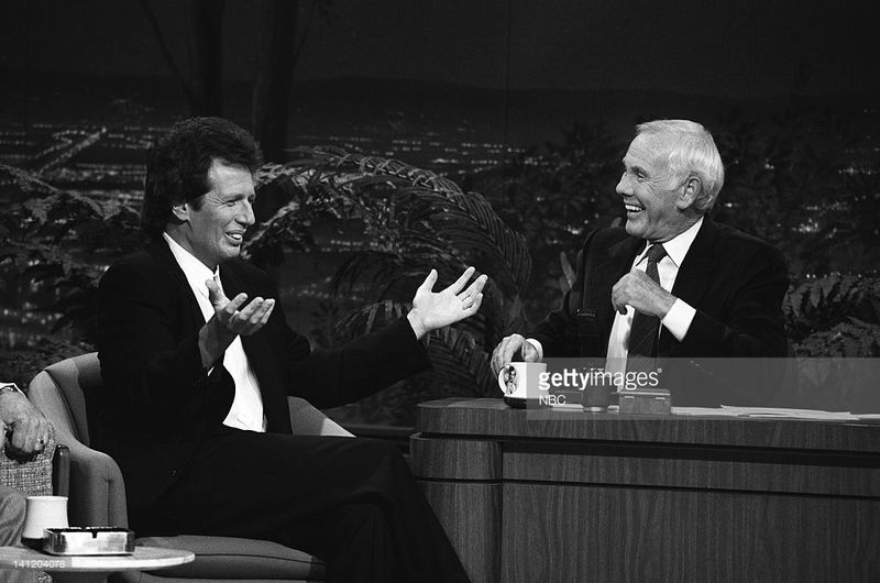Tonight Show Starring Johnny Carson with Garry Shandling 1989 Photo by Gary Null:NBCU