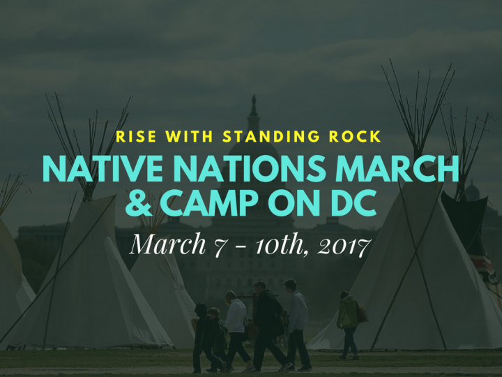 Native Nations March & Camp on DC March 7 - 10th, 2017