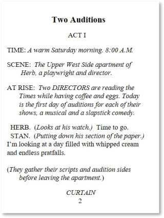 Two Auditions Page 2